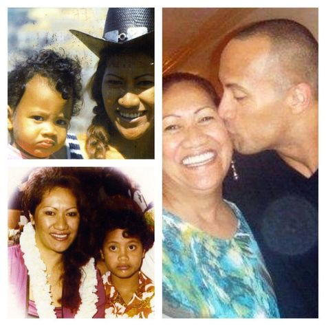 """""""The Rock"""" Dwayne Johnson with his mom."""