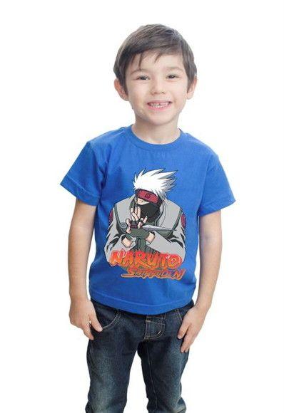 9578eeaeb9b0d Camiseta Naruto Infantil Anime Kakashi | camisetas para festa ...