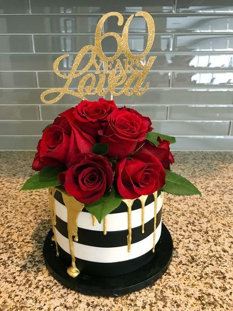 Birthday Cake 40th Sweet 16 65 Ideas Wedding Cake Red 60th