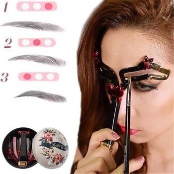 Adjustable Eyebrow Shapes Stencil 3 In 1 Portable Handheld Eyebrow Makeup Model Magic Eyebrow Shaping Template Drop Shipping In 2020 Eyebrow Shaping Eyebrow Stencil Eyebrow Shaper