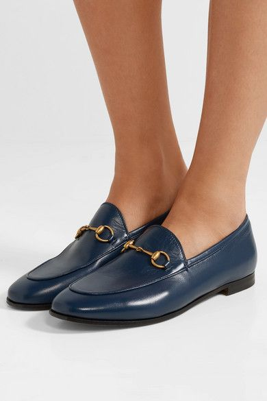 cc413c545 Gucci | Jordaan horsebit-detailed leather loafers | NET-A-PORTER.COM ...