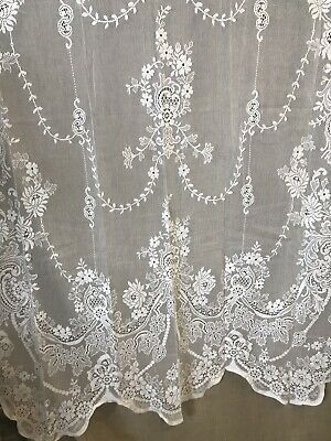 Laura Ashley Scottish Cream Cotton Lace Curtain C1900s Period
