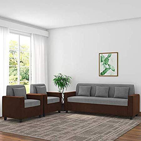 Royal Interiors Wooden Fabric Sofa Set 3 2 1 Wooden Finish Maroon Amazon In Home Kitchen Sofa Set Comfortable Sofa Sofa Set Online