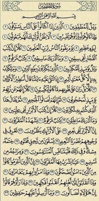 سورة المطففين سورة المطففين شرح وتفسير سورة المطففين Surah Al Mutaffifin شرح وتفسير كلمات السورة ويل كلمة عذاب Quran Quotes Math Quran