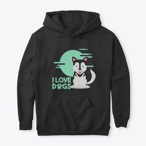 Awesome Design on High-Quality Graphic Tees of I love Dogs T-shirt for Dog People!#tshirtstore #puppypower