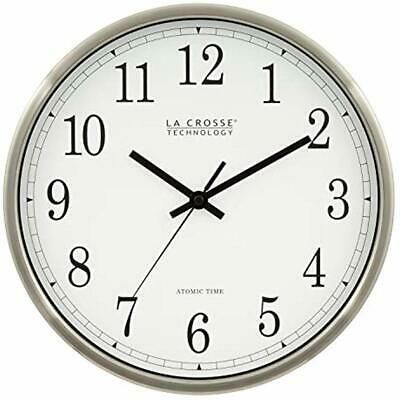 Wt 3126b 12 Inch Atomic Analog Wall Clock Aluminum Home Kitchen Fashion Home Garden Homedcor Clocks Ebay Link Clock Wall Clock Atomic Wall Clock