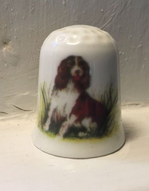 Porcelain China Collectable Thimble - Pug Dog