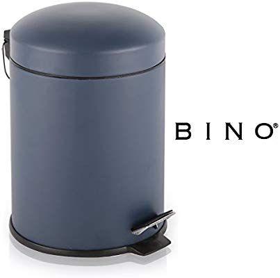Amazon Com Bino Stainless Steel 1 3 Gallon 5 Liter Round Step Trash Can Matte Navy Home Kitchen Trash Can Kitchen Trash Cans Stainless