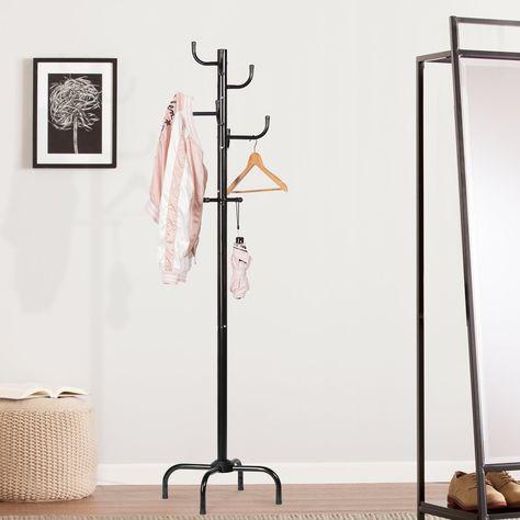 Amazon Com Langria Modern Free Standing Metal Coat Rack And Hat