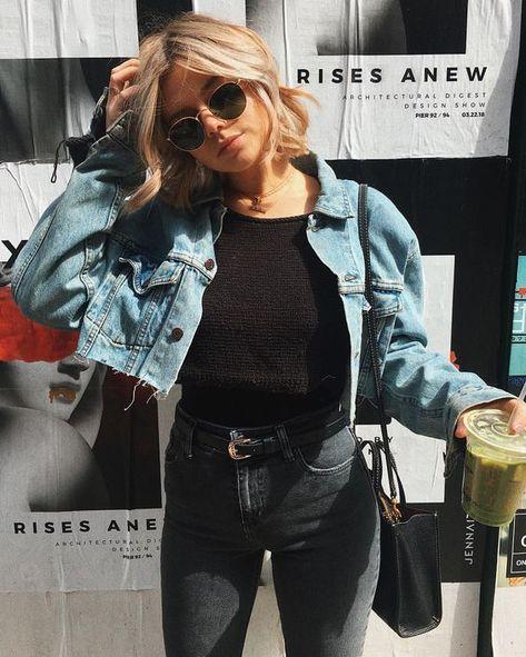cropped denim jacket ripped jean jacket for women oversized denim jacket distressed cropped jean jacket fall coats