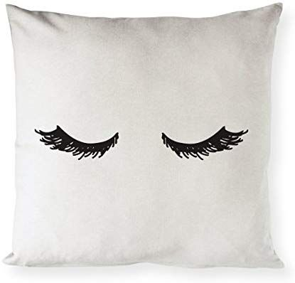 Amazon Com The Cotton Canvas Co Closed Eyelashes Home Decor Pillow Cover Pi Decorative Pillow Covers Decorative Throw Pillows Throw Pillow Cases