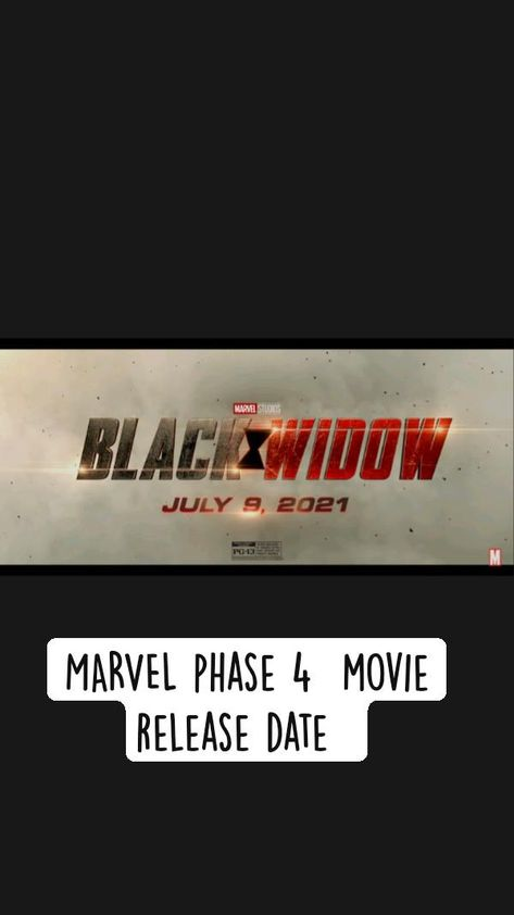 MARVEL PHASE 4 MOVIE RELEASE  DATE AND  SMALL DETAILS
