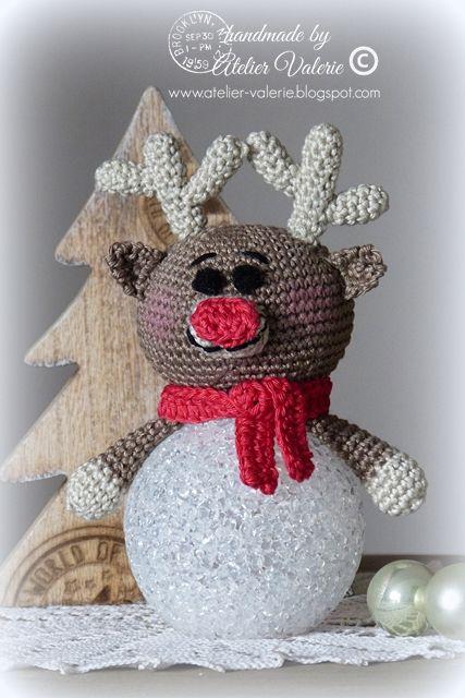 Atelier Valerie The Red Nosed Rudolf Haken Kerst Kerst Haak Patronen Kerst Haak
