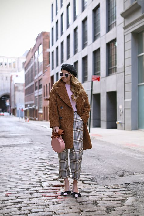 UPDATE: STILL WINTER IN NYC // BOW PUMPS & PLAID PANTS | Atlantic-Pacific