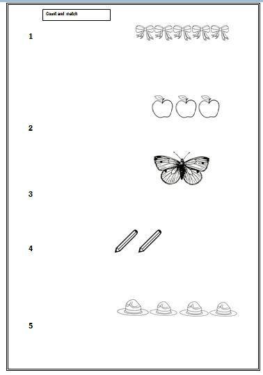 Preschool Maths Worksheet For Ages 3 5 Preschool Math Worksheets Preschool Math Math Worksheet Mathematics worksheet for years old
