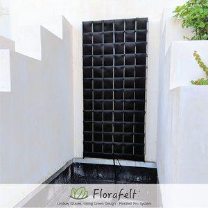 Florafelt Pro System Stainless Steel Grid Modular Living Wall System Kit Vertical Garden Systems Succulent Planter Diy Succulent Hanging Planter