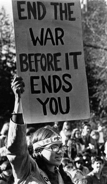 Hippie Protest To The Vietnam War 1960s Protest Signs Vietnam War War