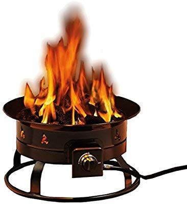 Heininger 5995 58 000 Btu Portable Propane Outdoor Fire Pit With