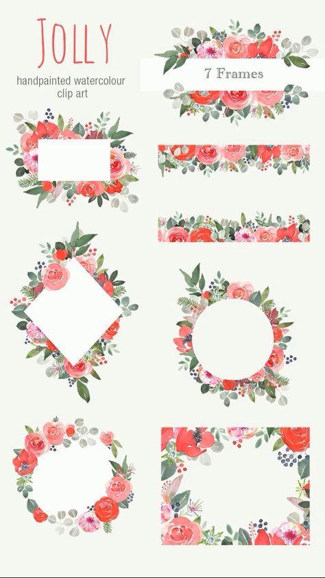 Watercolour Christmas Floral Clipart