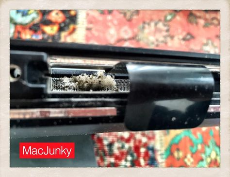 Yet more dust in another iMac, this time in the RAM slot