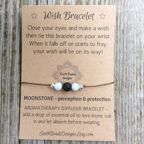 Wish Bracelet Black Lava Stone Essential Oil Bracelet for Best Friend Inspirational Jewelry Gift For Daughter Womens Mom Men Aromatherapy