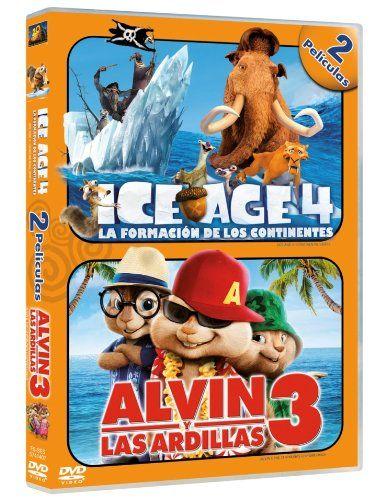 Pack Ice Age 4 Alvin Y Las Ardillas 3 Dvd Age Ice Pack