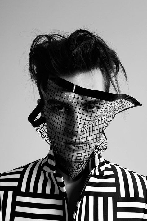 balint barna - This bizarre men's fashion editorial was shot by talented photographer Balint Barna. These monochromatic captures feature some really odd ac...