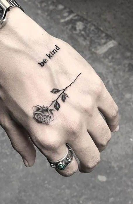 25 Simple Tattoos Ideas For Men Hand Tattoos For Guys Hand Tattoos Small Hand Tattoos