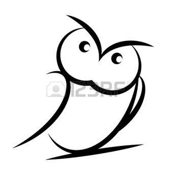 Cartoon owl  izolated on white background photo