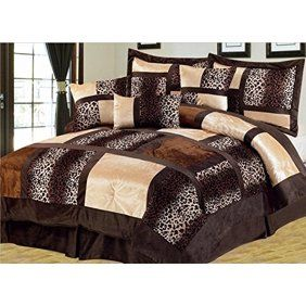 Empire Home Safari 7 Piece Brown Queen Size Comforter Set
