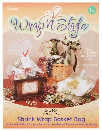 Wrap N Style™ Shrink Wrap Bag For Gifts And Baskets: Clear