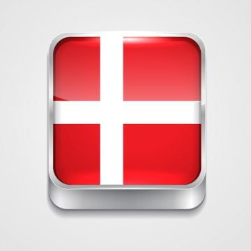 Flag Of Denmark 3d Button Badge Png And Vector With Transparent Background For Free Download In 2020 Denmark Flag Denmark Map Flag Background