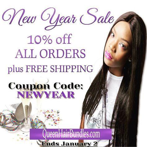 New Year Sale  Shop quality and be crowned a Queen... 10% off all orders!! Plus FREE Shipping!!! Coupon Code: NewYear  _________________________________ #virginhair#brazilianhair#peruvianhair#malaysianhair#bodywave#loosewave#hairstylist#morehouse#hairextensions#hbcu#famu#howarduniversity#spelman#clarkatlanta#Tuskegee#rhoa#bgc14#lhhatl#lhhh#brazilianvirginhair#scandal#miamihair#bbwla#empire#nychair#atlhair#lahair#houstonhair by queenhairbundles