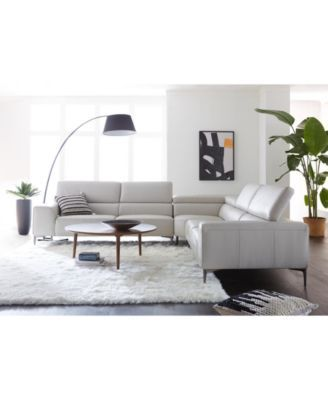 Groovy Mossley 129 3 Piece Leather L Sectional Sofa Light Grey Pdpeps Interior Chair Design Pdpepsorg