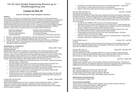 Sample Of Structural Engineer Resume - http\/\/exampleresumecvorg - building engineer sample resume