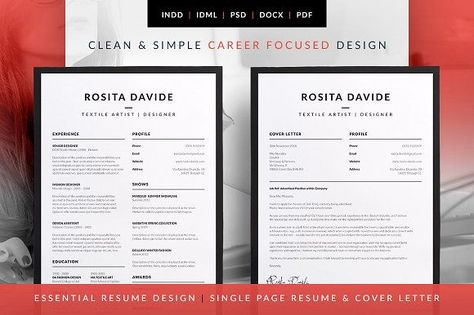 Essential Resume - Rosita by bilmaw creative on @mywpthemes_xyz - single page resume