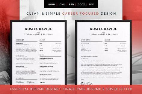 Essential Resume - Rosita by bilmaw creative on @mywpthemes_xyz - single page resume