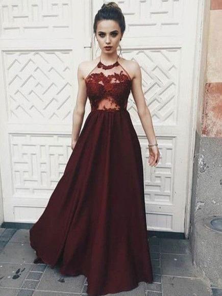 011f1c0065b8 2018 Prom Dresses A-line Spaghetti Straps Burgundy Long Prom Dress Eve –  AmyProm