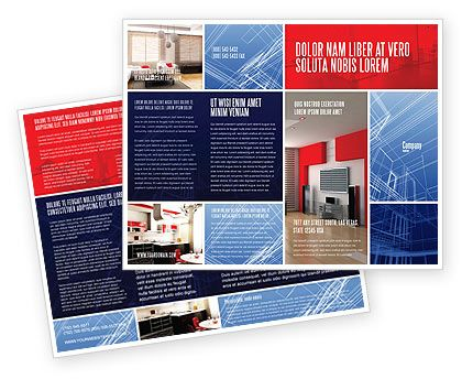 like the purple bracket-y thing Work inspiration Pinterest - interior design brochure template