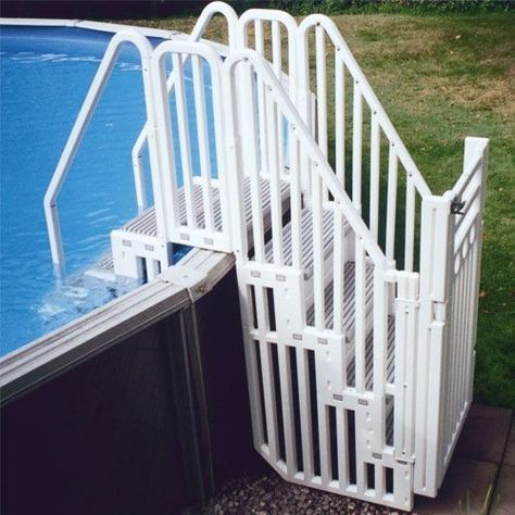 Confer Ses Complete Step Enclosure System With Gate Best Above Ground Pool Above Ground Pool Steps Backyard Pool Landscaping