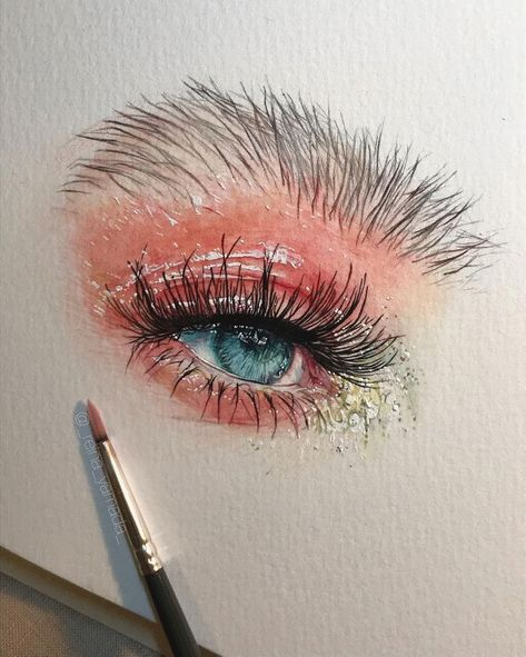 Peinture A L Aquarelle D Un œil Drawing Painting Pencil