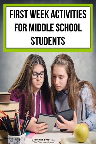 First Week of School Activities For Middle School Students