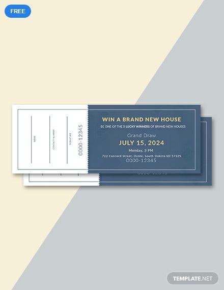 Free Sample Raffle Ticket 포스터 디자인 티켓 그래픽