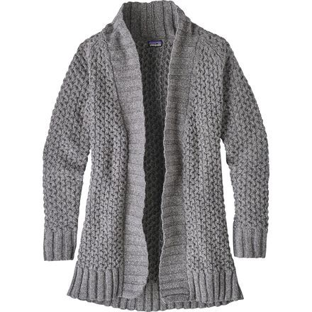 The mall is calling and you must go. But not without your Patagonia Off Country Cardigan. Slip on this chic cable-knit sweater and you're out the door. The textured fabric keeps you warm as you go to and from the car and looks cute enough to wear throughout the whole shopping experience.
