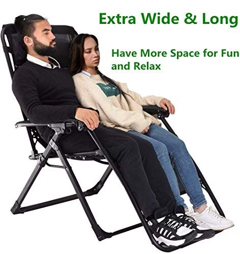 Amazing Offer On Heavy Duty Zero Gravity Chair Xl Supports 400