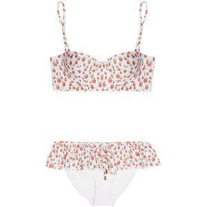 Rosamosario Strawberry Moon printed underwired bikini