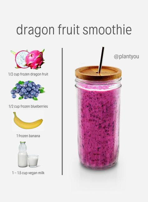 Vegan Smoothies   Dragon Fruit Smoothie Recipe   Healthy Smoothie Recipes