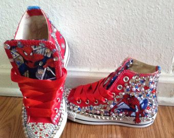 8d6ded6f1a4e custom converse  spiderman handpainted shoes can do any theme yo ...