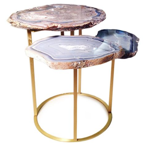 Quinn Three Tier Agate Coffee Table 11 500 Liked On Polyvore