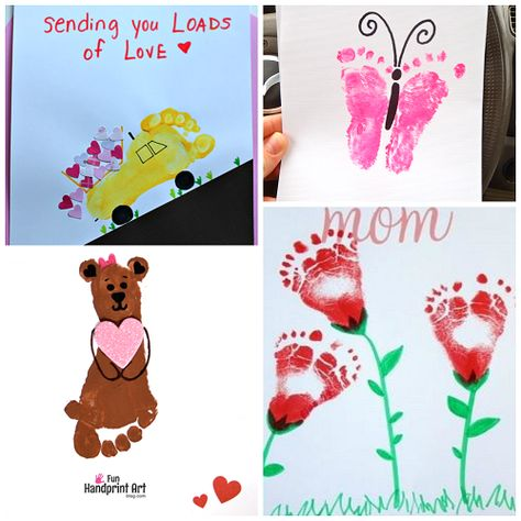 Cute Footprint Valentine's Day Crafts for Kids - Crafty Morning